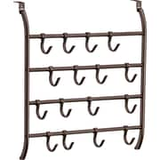 Lynk Over Door 16 Adjustable Hook Accessory, Scarf, & Jewelry Organizer; Bronze