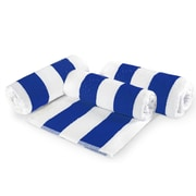 Crover Cabana Stripe Cotton 6 Piece Beach Towel Set; Blue
