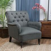 Home Loft Concept Danielle Tufted Club Chair; Gray