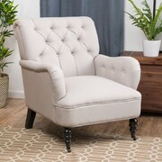 Home Loft Concept Danielle Tufted Club Chair; Natural