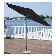 LB International 9' Crank Market Umbrella; Black