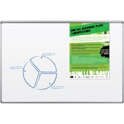 Best-Brite Dry-Erase 6' x 4' Melamine Board with Presidential Trim (2H1PG-BT)