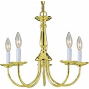 Aurora Lighting Incandescent Chandelier, Polished Brass (STL-VME245156)