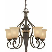 Aurora Lighting Incandescent Chandelier, Vintage Bronze (STL-VME222058)