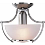Aurora Lighting Incandescent Semi-Flush, Brushed Nickel (STL-VME048214)