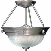 Aurora Lighting Incandescent Semi-Flush, Brushed Nickel (STL-VME077627)