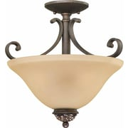 Aurora Lighting Incandescent Semi-Flush, Vintage Bronze (STL-VME222133)