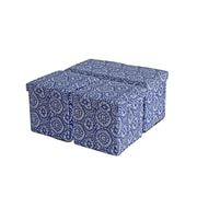 Aurora Lighting Reinbeck Fabric Bench and Storage Ottoman Set Blue 1 STP-TLC3109192
