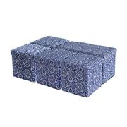Aurora Lighting Jellico Fabric Bench and Storage Ottoman Set Bench and Storage Ottoman Set Blue 1 STP-TLC3109222