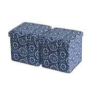 Aurora Lighting Greendale Fabric Storage Ottoman Blue 1 STP-TLC3109079
