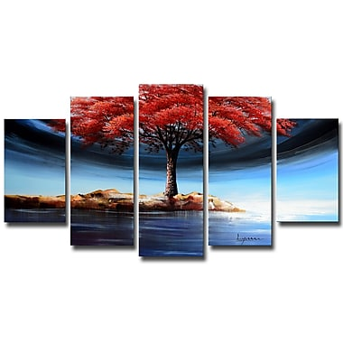 Designart Powerful Tree on the Water Forest Oil Painting, (OL1233)