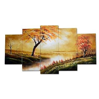 Designart – Peinture à l'huile sur toile, Forêt ensoleillée, (OL1240)