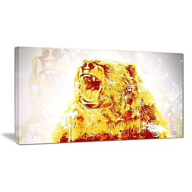 Designart Sparkling Bear Canvas Art Print, 5 Panels, (PT2349-32-16)