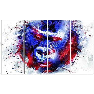 Designart – Grand imprimé sur toile, Gorille vigilant, (PT2358-271)