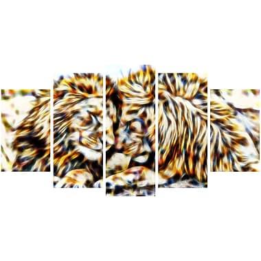 Designart Soul Mates Lion Animal Canvas Art, Multiple Sizes, (PT2422-373)