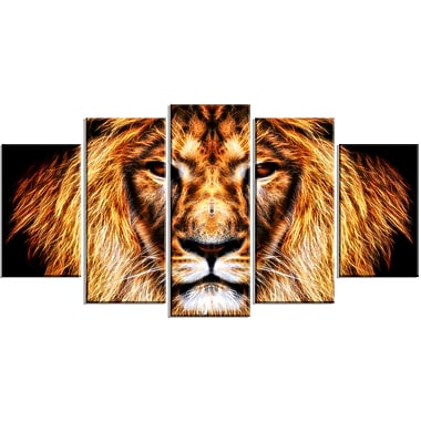 Designart Hear Him Roar Lion Animal Canvas, Multiple Sizes, (PT2437-373)