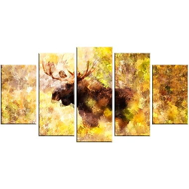 Designart Magnificent Moose Animal Art, Multiple Sizes, (PT2454-373)