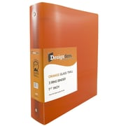 "JAM Paper® Designders 1.5"" Width 3-Ring Plastic Binder, Orange (762T15or)"