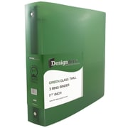 JAM Paper® Plastic 3 Ring Binder, 1.5 Inch, Green, Sold Individually (762T15GR)