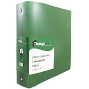 "JAM Paper® Designders Plastic 3-Ring Binder, 2""W, Green (820T2gr)"