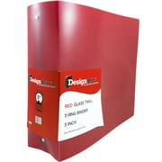 "JAM Paper® Designders Plastic 3-Ring Binder, 3""W, Red (821T3re)"