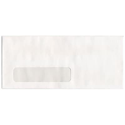 JAM Paper 10 Window Envelopes 4 1 8 x 9 1 2 White 50 pack 1633173H