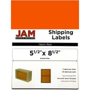 "JAM Paper® Large 5.5"" x 8.5"" Shipping Labels, Half Sheet, Neon Red, 50 Labels/Pack (359429625)"