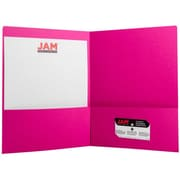 JAM Paper® Two Pocket Matte Presentation Folder, Magenta Pink, 6/Pack (166628273b)