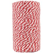 JAM Paper® Bakers Twine, Red and White, 109 Yards, Sold Individually (349530303)