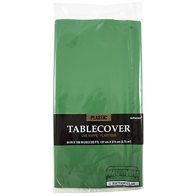 JAM Paper Plastic Table Covers Green Table Cloths Sold Individually 291429697