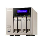 Qnap® Turbo vNAS TVS-463 4-Bay Diskless NAS Server (TVS-463-4G-US)