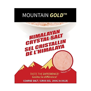 My Gourmet Mountain Gold Coarse Table Salt, 250G Pack, 24 Packs/Case