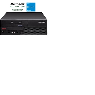 Lenovo (M58 SFF) Refurbished Desktop, Intel Core 2 Duo, 3.0GHz, 4GB RAM, 160GB HDD, DVD-ROM, English