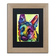 "Trademark Fine Art ''German Shepherd'' by Dean Russo 11"" x 14"" Black Matted Wood Frame (886511837829)"