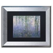 "Trademark Fine Art ''Water Lilies III 1840-1926'' by Claude Monet 11"" x 14"" Black Matted Silver Frame (886511841000)"