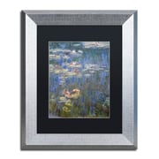 """Trademark Fine Art ''Water Lilies IV 1840-1926'' by Claude Monet 11"""" x 14"""" Black Matted Silver Frame (886511841086)"""