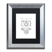 """Trademark Fine Art ''Photographic Camera 1962 White'' by Claire Doherty 11"""" x 14"""" Black Matted Silver Frame (886511841987)"""