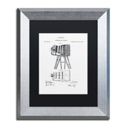 """Trademark Fine Art ''Photographic Camera 1885 White'' by Claire Doherty 11"""" x 14"""" Black Matted Silver Frame (886511842120)"""