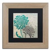 "Trademark Fine Art ''Chrysanthemums I'' by Wellington Studio 11"" x 11"" Black Matted Wood Frame (886511860469)"