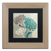 "Trademark Fine Art ''Chrysanthemums II'' by Wellington Studio 11"" x 11"" Black Matted Wood Frame (886511860544)"