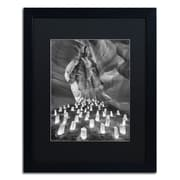 """Trademark Fine Art ''Candle Canyon II'' by Moises Levy 16"""" x 20"""" Black Matted Black Frame (886511877818)"""