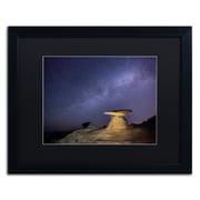"Trademark Fine Art ''Starry Night in Arizona III'' by Moises Levy 16"" x 20"" Black Matted Black Frame (886511878617)"