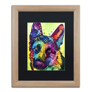 "Trademark Fine Art ''German Shepherd'' by Dean Russo 16"" x 20"" Black Matted Wood Frame (886511837843)"