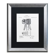 """Trademark Fine Art ''Photographic Camera 1885 White'' by Claire Doherty 16"""" x 20"""" Black Matted Silver Frame (886511842137)"""