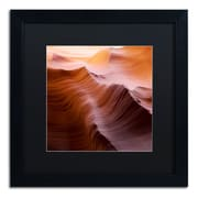 """Trademark Fine Art ''Smooth I'' by Moises Levy 16"""" x 16"""" Black Matted Black Frame (886511878259)"""