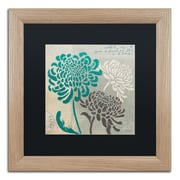 "Trademark Fine Art ''Chrysanthemums I'' by Wellington Studio 16"" x 16"" Black Matted Wood Frame (886511860483)"