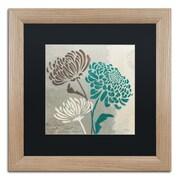 "Trademark Fine Art ''Chrysanthemums II'' by Wellington Studio 16"" x 16"" Black Matted Wood Frame (886511860568)"