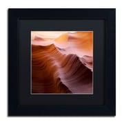 """Trademark Fine Art ''Smooth I'' by Moises Levy 11"""" x 11"""" Black Matted Black Frame (886511878235)"""