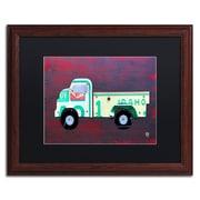 "Trademark Fine Art ''Pickup Truck'' by Design Turnpike 16"" x 20"" Black Matted Wood Frame (886511908833)"