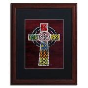 "Trademark Fine Art ''Celtic Cross'' by Design Turnpike 16"" x 20"" Black Matted Wood Frame (886511911253)"